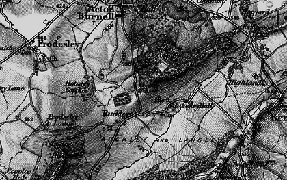 Old map of Langley Chapel in 1899