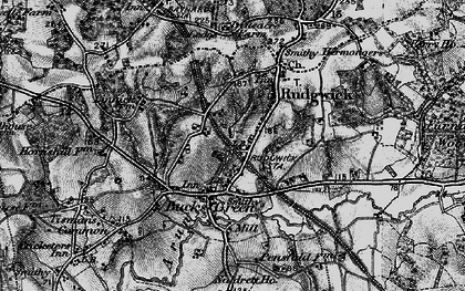 Old map of Rudgwick in 1895