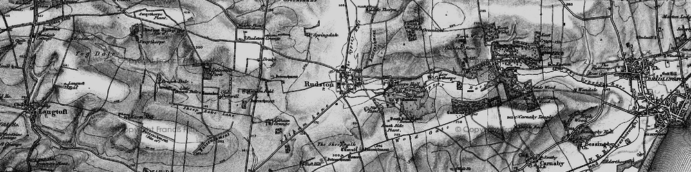 Old map of Rudston in 1897