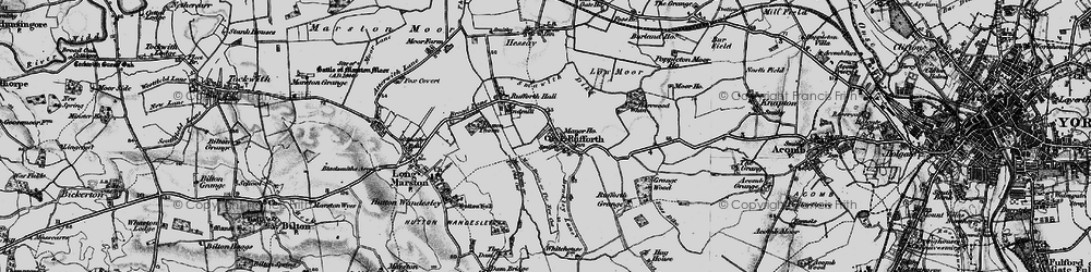 Old map of Rufforth in 1898