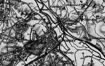 Old map of Rugeley in 1898