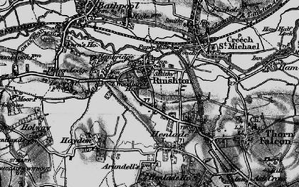 Old map of Ruishton in 1898