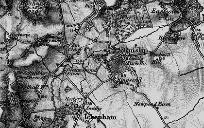 Old map of Ruislip in 1896