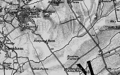 Old map of Ruislip Manor in 1896