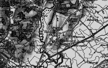 Old map of Rumney in 1898