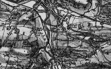 Old map of Whiddon in 1898