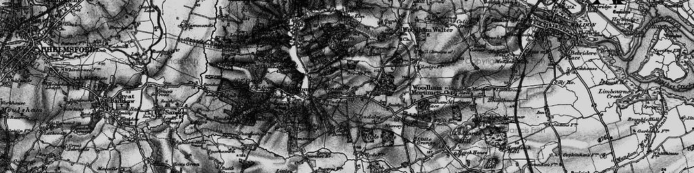 Old map of Woodham Walter Common in 1896