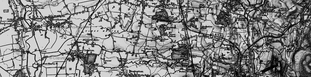 Old map of Worden Park in 1896