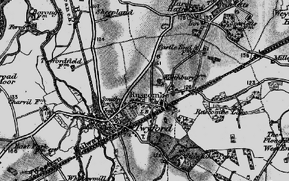 Old map of Ruscombe in 1895