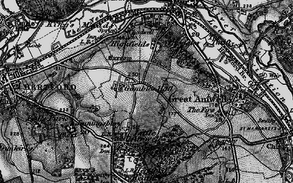 Old map of Rush Green in 1896