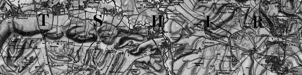 Old map of Rushall in 1898