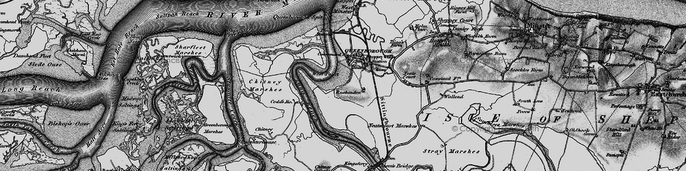 Old map of West Swale in 1894