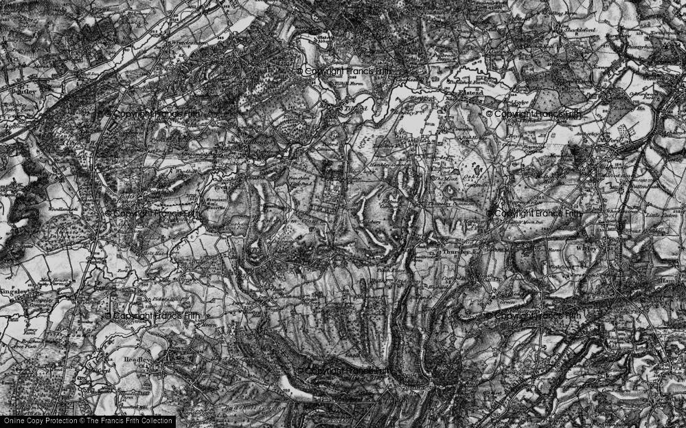Old Map of Rushmoor, 1895 in 1895