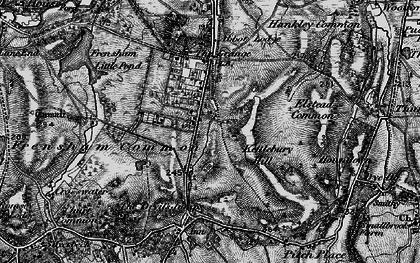 Old map of Rushmoor in 1895