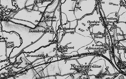 Old map of Rushmoor in 1899