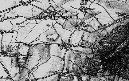 Old map of Woodgreen in 1899