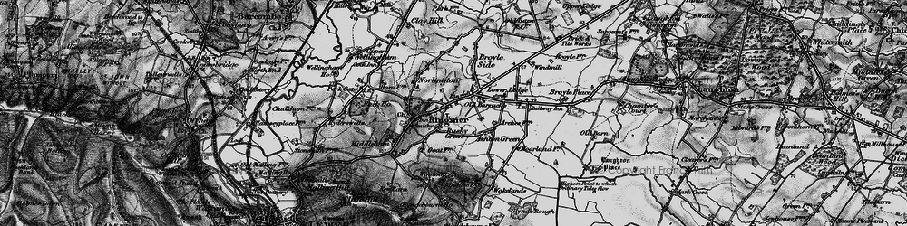 Old map of Rushy Green in 1895