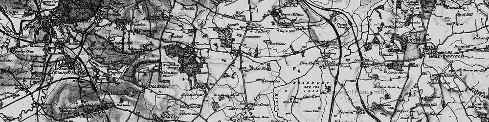 Old map of Rushyford in 1897
