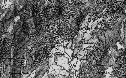 Old map of Thwaite Moss in 1897