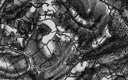 Old map of Rusling End in 1896