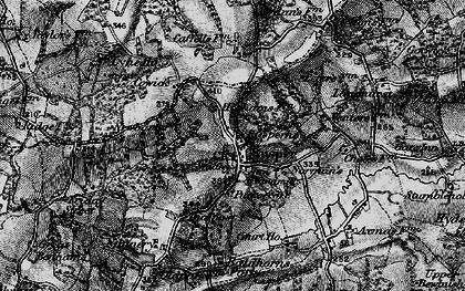 Old map of Rusper in 1896