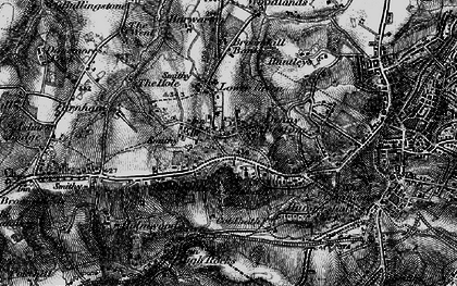 Old map of Rusthall in 1895