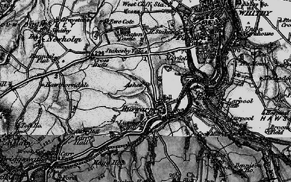 Old map of Ruswarp in 1898