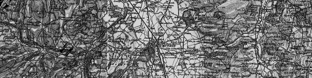 Old map of Ruthin in 1897