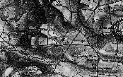 Old map of Whittington White Ho in 1897
