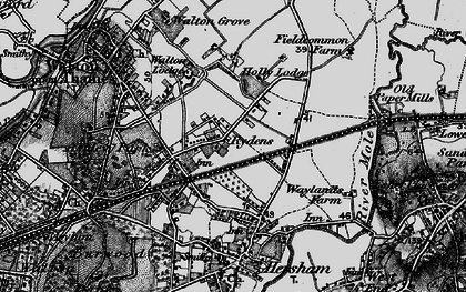 Old map of Rydens in 1896