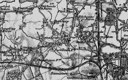 Old map of Rydeshill in 1896