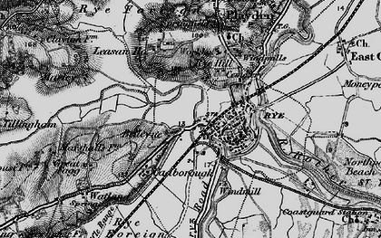 Old map of Ypres Tower in 1895