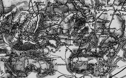 Old map of Leasam Ho in 1895
