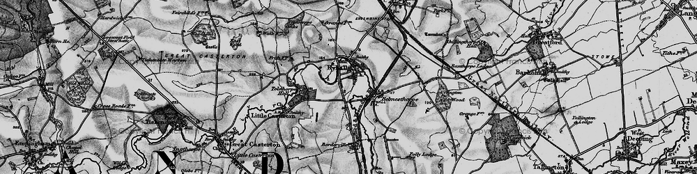 Old map of Tolethorpe Hall in 1895