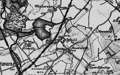 Old map of Ryhill in 1896