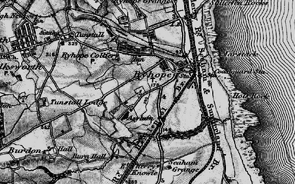 Old map of Ryhope in 1898