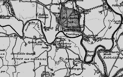 Old map of Wharfe Ings in 1898