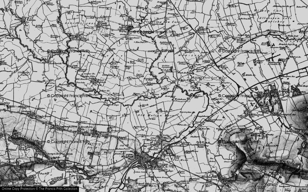 Old Map of Historic Map covering Acomb Ho in 1898