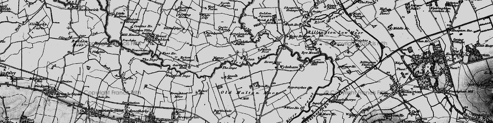 Old map of Acomb Ho in 1898