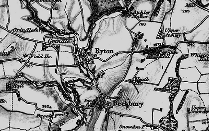 Old map of Ryton in 1899