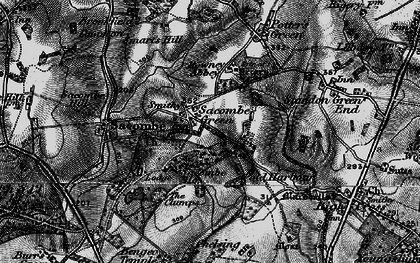 Old map of Sacombe Green in 1896
