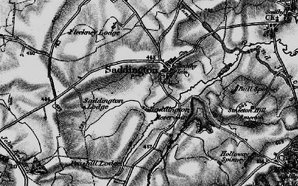 Old map of Saddington in 1898