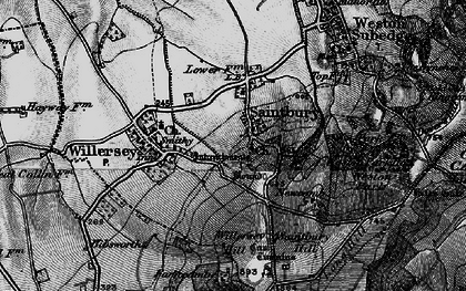Old map of Willersey Hill in 1898