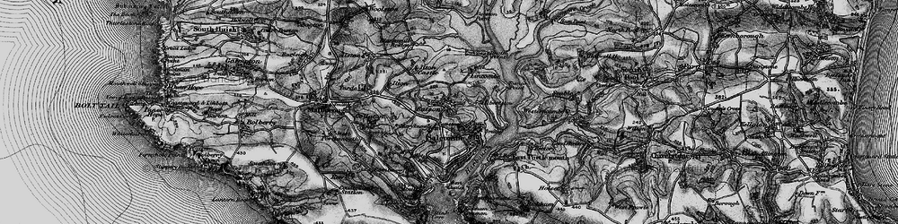 Old map of Salcombe in 1897