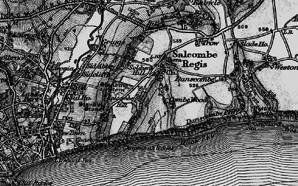 Old map of Salcombe Regis in 1897