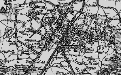 Old map of Sale in 1896