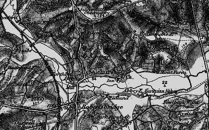 Old map of Bantony in 1895