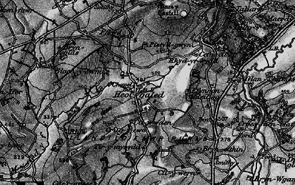 Old map of Afon Myddyfi in 1898