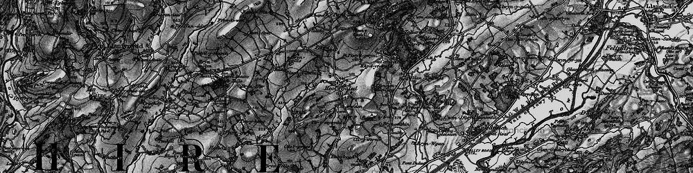 Old map of Afon Myddyfi in 1898