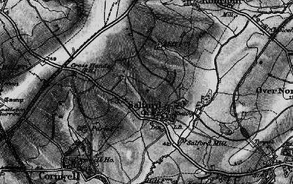 Old map of Salford in 1896